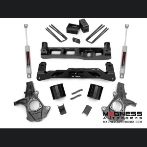 "Chevy Silverado 1500 2WD Suspension Lift Kit w/ N3 Shocks - 5"" Lift - Steel Knuckles"